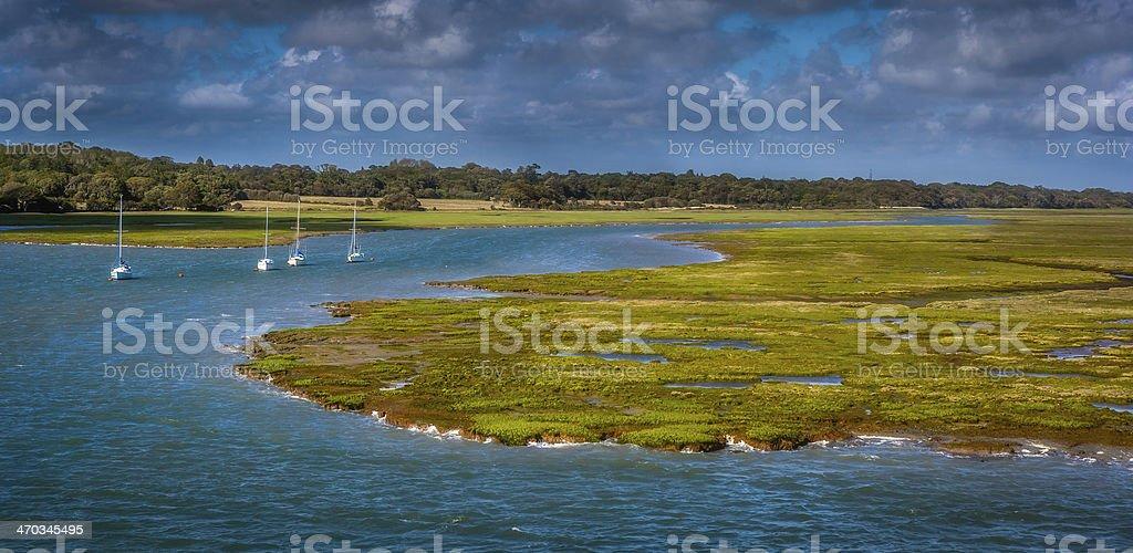 Lymington Marshes stock photo