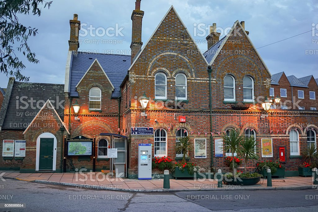 Lymington Town Station building stock photo