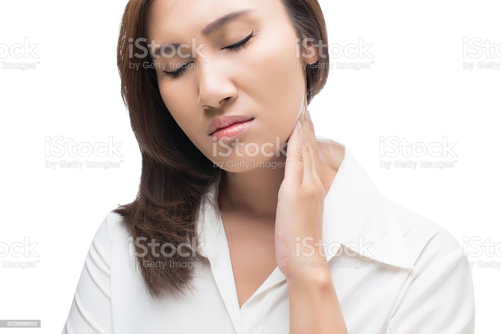 Lymph node at neck stock photo