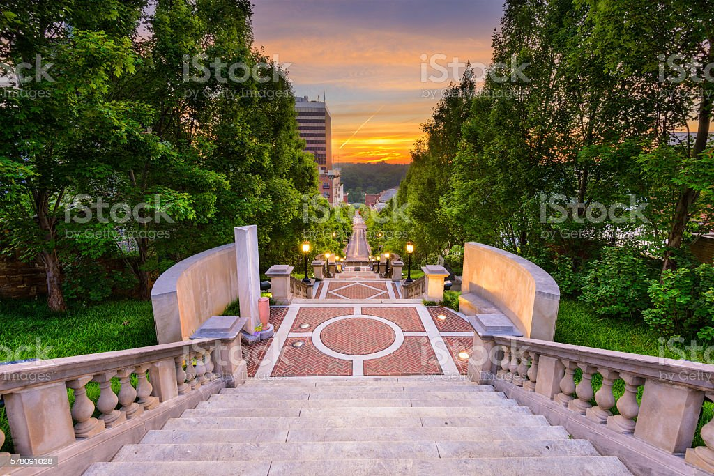 Lynchburg at Monument Terrace stock photo