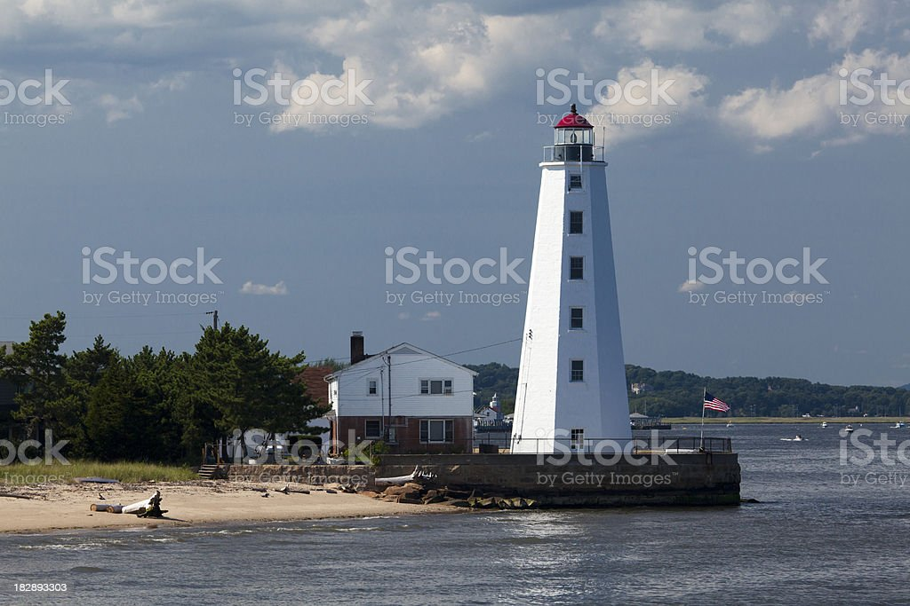 Lynde Point Lighthouse, CT stock photo