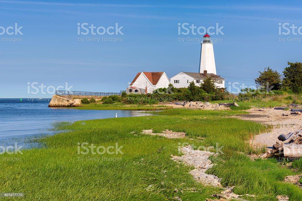 Lynde Point Lighthouse, Old Saybrook, Connecticut, USA photo libre de droits