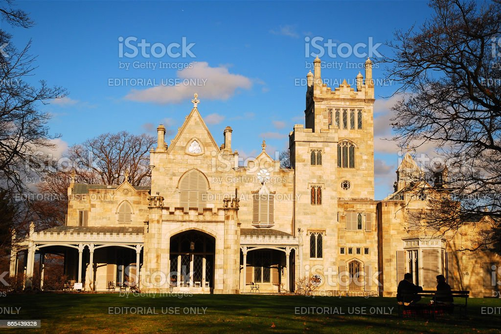 Lyndhurst Castle, Tarrytown, New York stock photo
