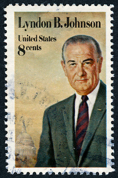 Lyndon Baines Johnson Stamp stock photo