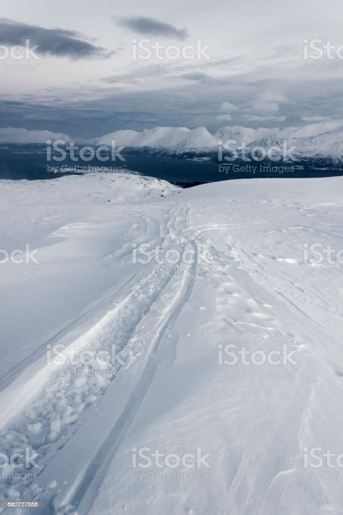 Lyngen Alps stock photo