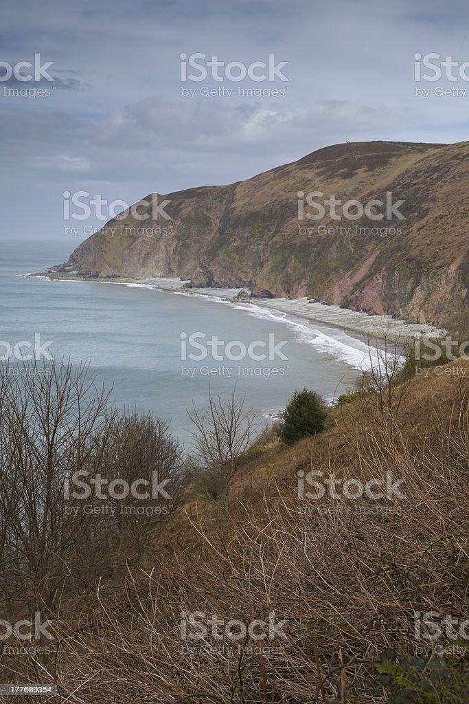 Lynmouth Bay Devon England stock photo