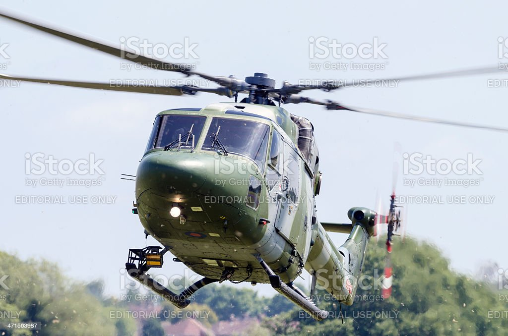 Lynx British military helicopter stock photo