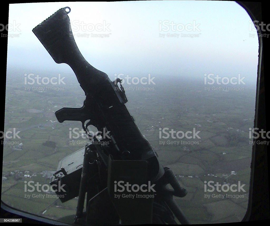 Lynx Helicopter General Purpose Machine Gun (GPMG) stock photo