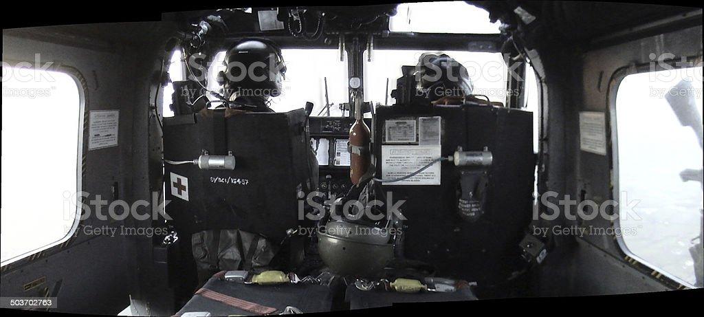 Lynx Helicopter Interior stock photo