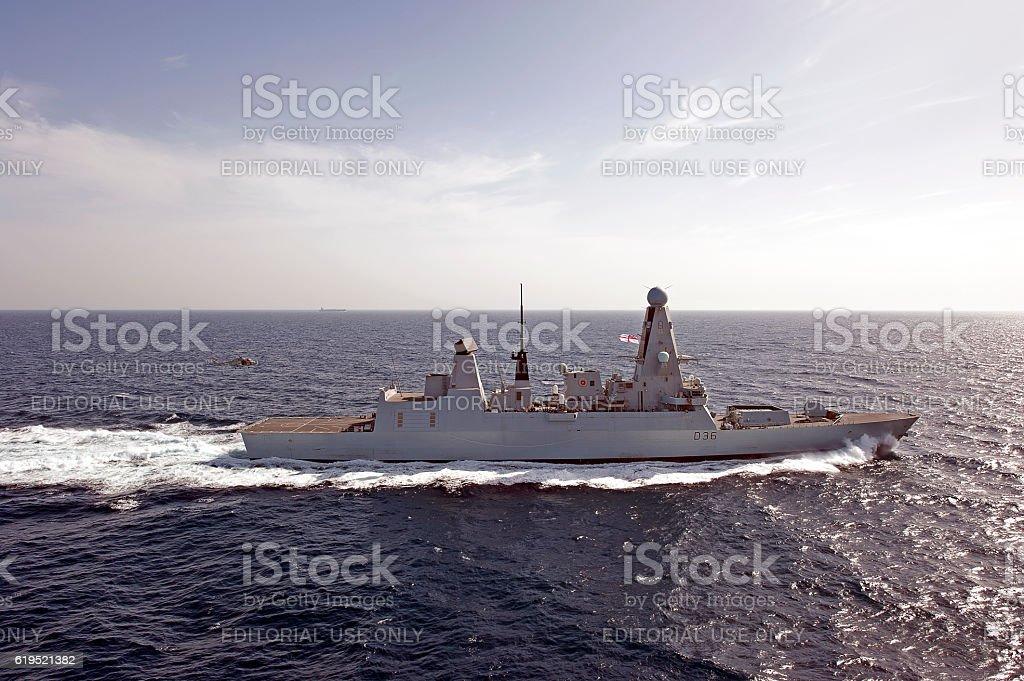 Lynx recovery, Arabian Sea stock photo