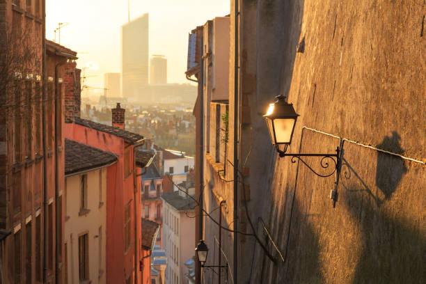 Lyon at dawn stock photo