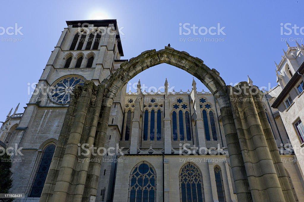 Lyon Cathedral stock photo