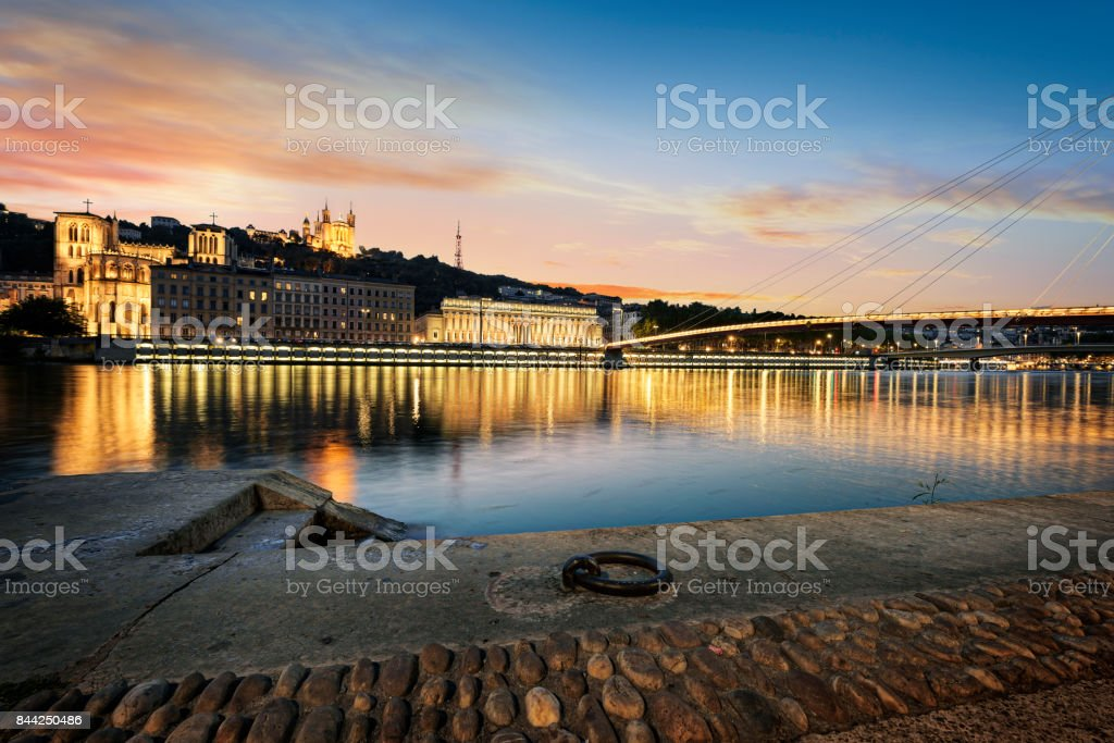Lyon city de nuit - Photo