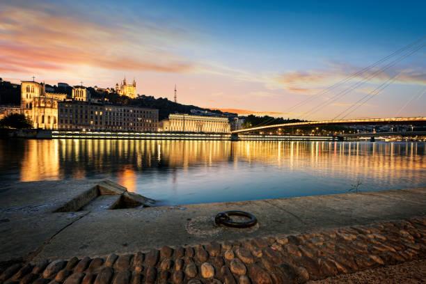 Lyon city de nuit - Photo