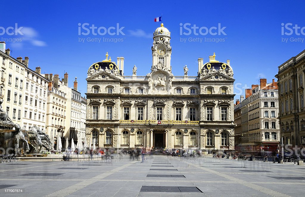 Lyon, city hall, France stock photo