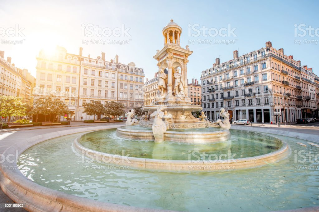 Lyon city in France stock photo