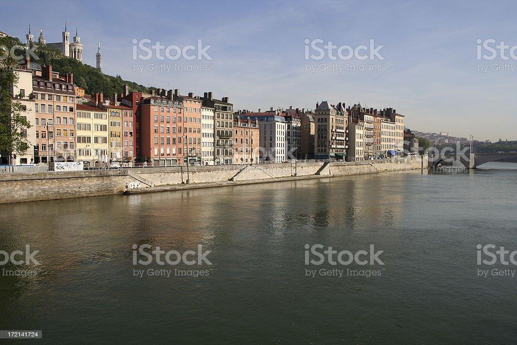 Lyon Cityscape royalty-free stock photo