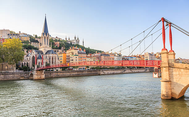 Lyon, Frankreich-Vieux District, Saone, Saint-Georges-Kirche, Fourvière – Foto