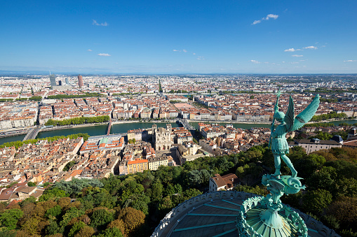 Lyon From The Top Of Notre Dame De Fourviere Stock Photo & More Pictures of 2015