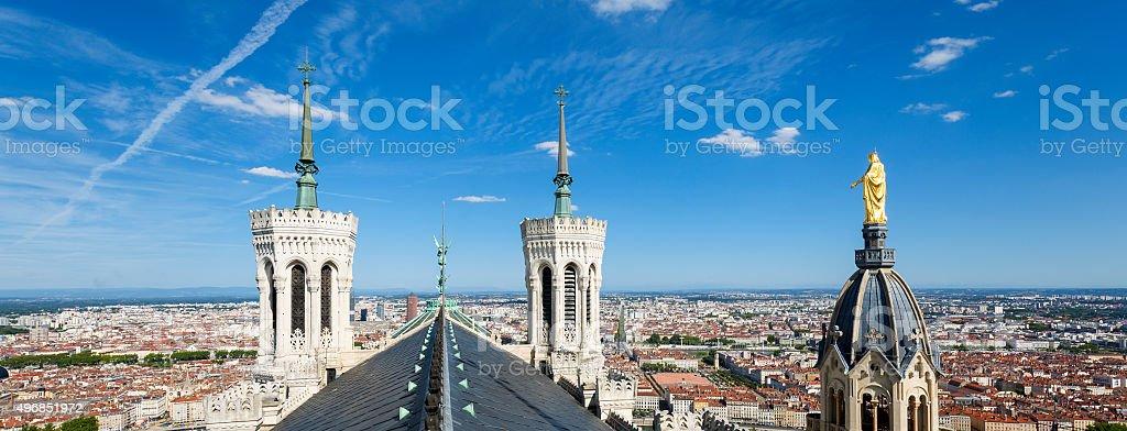 Lyon du haut de Notre-Dame-de-Fourvière - Photo