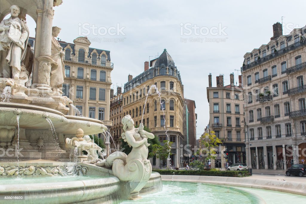 Lyon, place des Jacobins stock photo