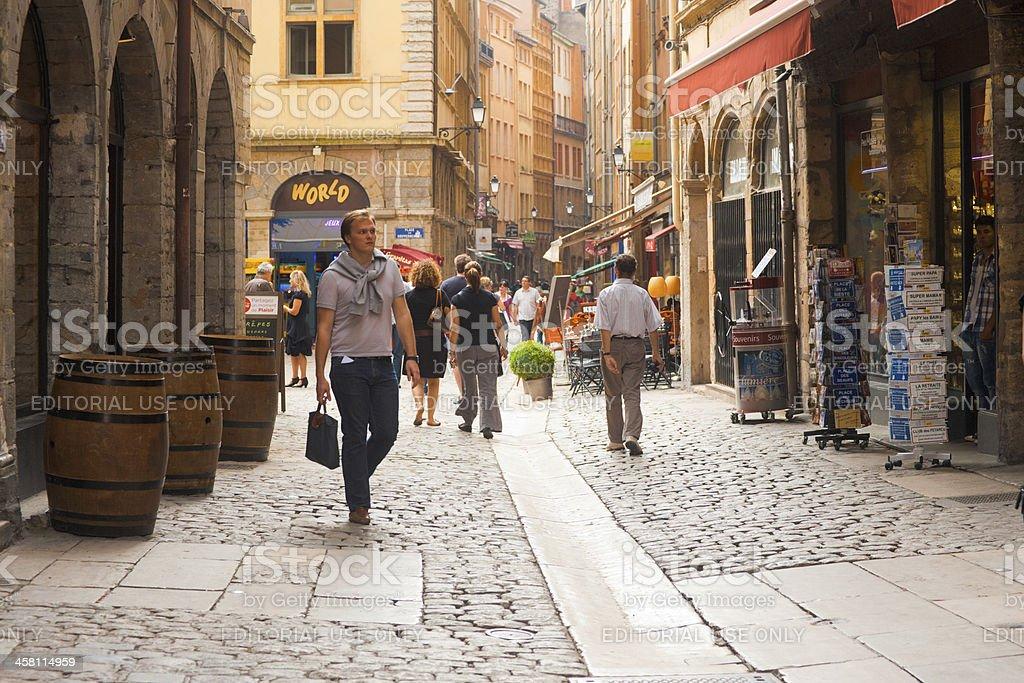 Lyon Rue des boutiques de la Rue Saint Jean - Photo
