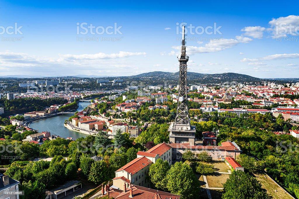 Lyon view stock photo