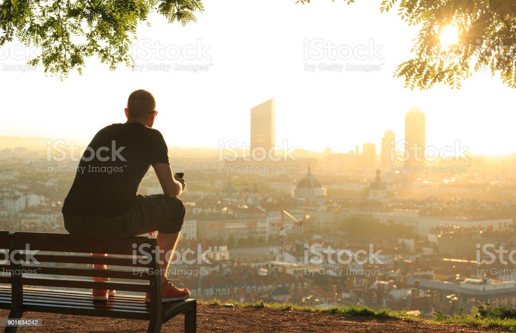 Lyon view - Zbiór zdjęć royalty-free (Cała postać)