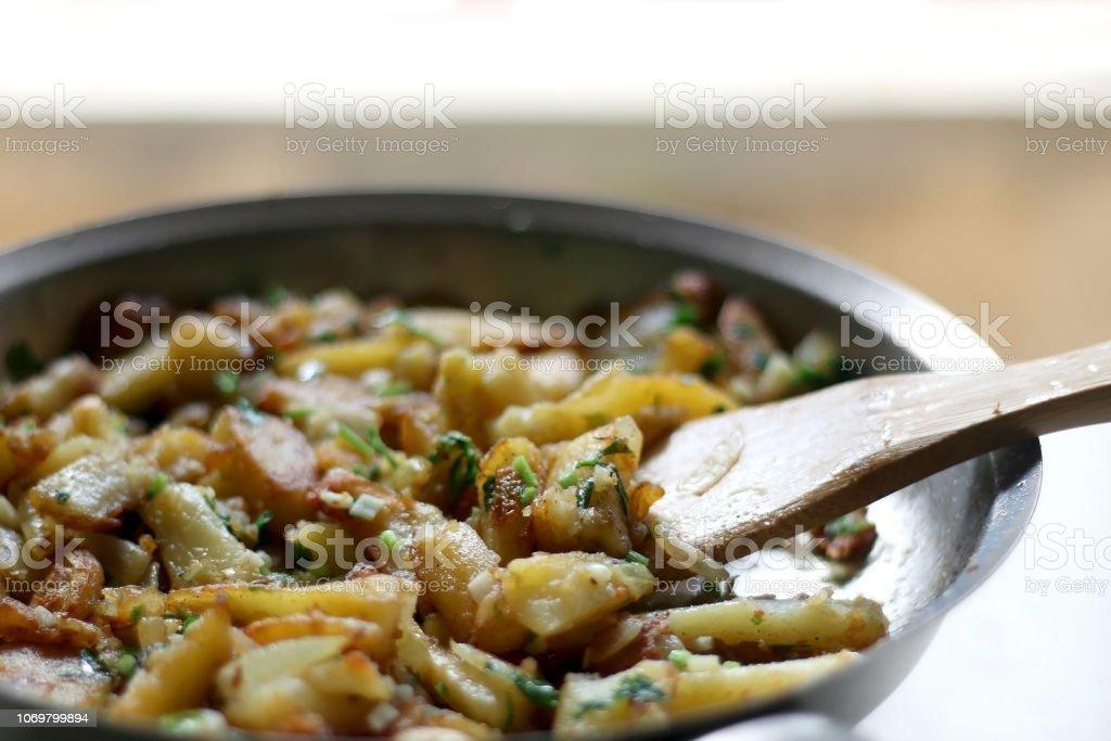 Lyonnaise Potatoes stock photo