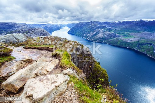 Summer, Norway, Cliff, Europe, Lysefjorden