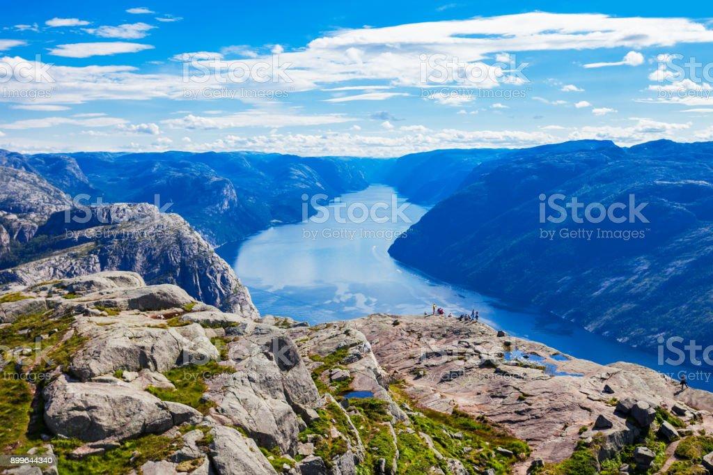 Lysefjord near Preikestolen, Norway stock photo