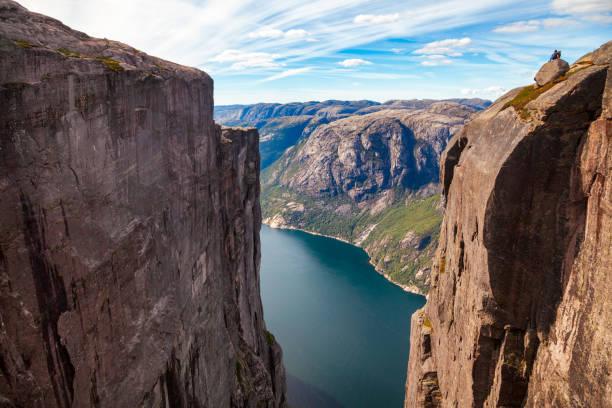 lysefjord seen from kjerag mountain forsand rogaland norway scandinavia - плато стоковые фото и изображения