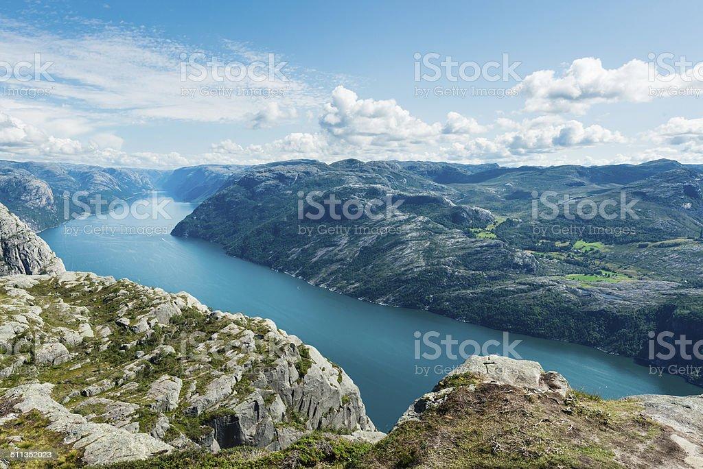Lysefjorden stock photo