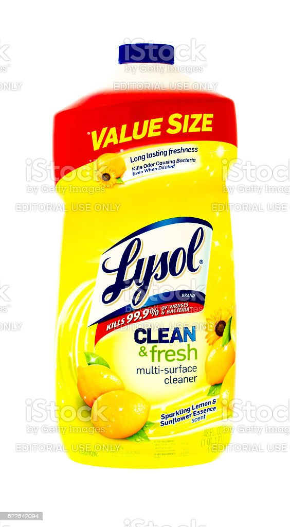 Lysol stock photo