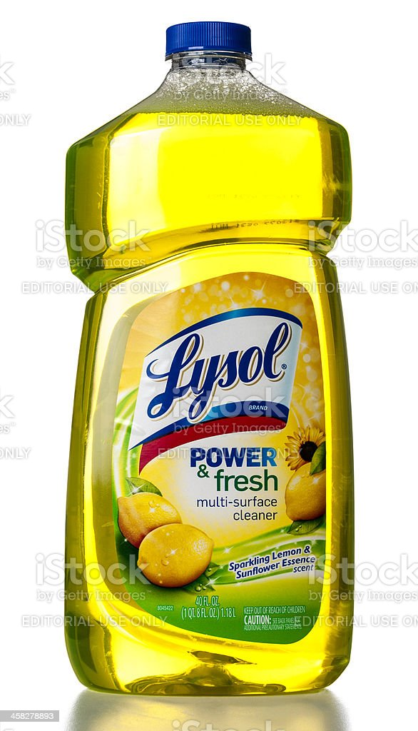 Lysol power & fresh multi-surface cleaner stock photo