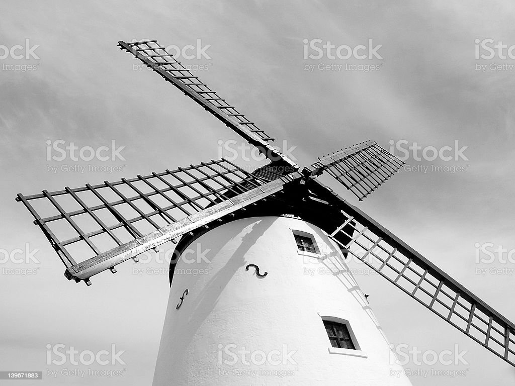 Lytham Windmill 2 royalty-free stock photo