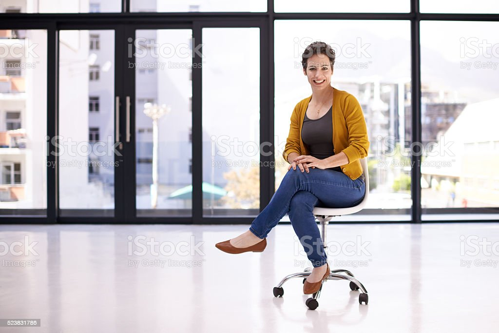I'm a first time business owner and it feels great stock photo