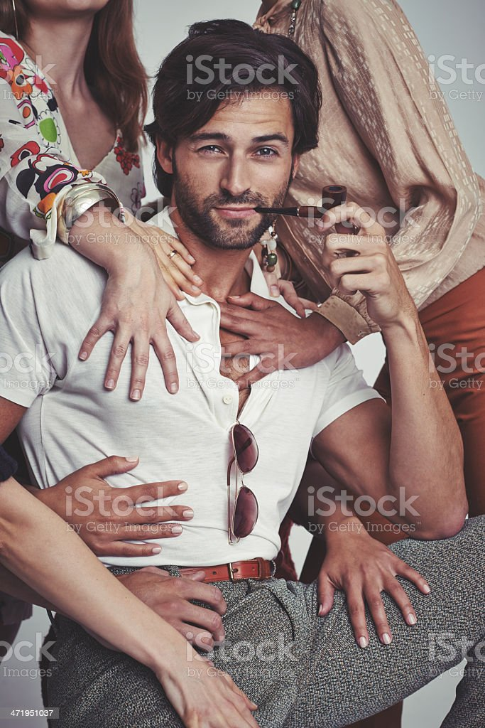 I'm a ladies man, for sure! stock photo