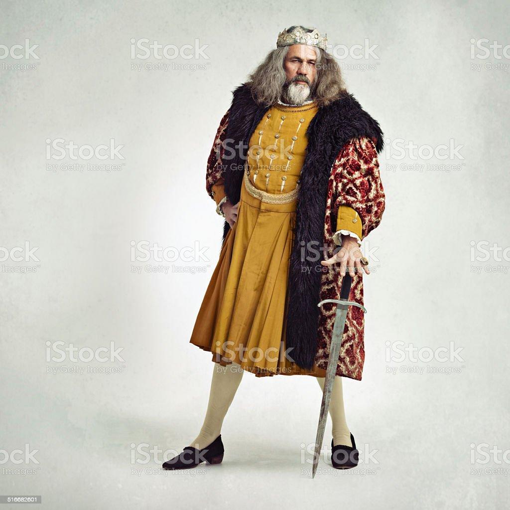 I'm a noble king stock photo