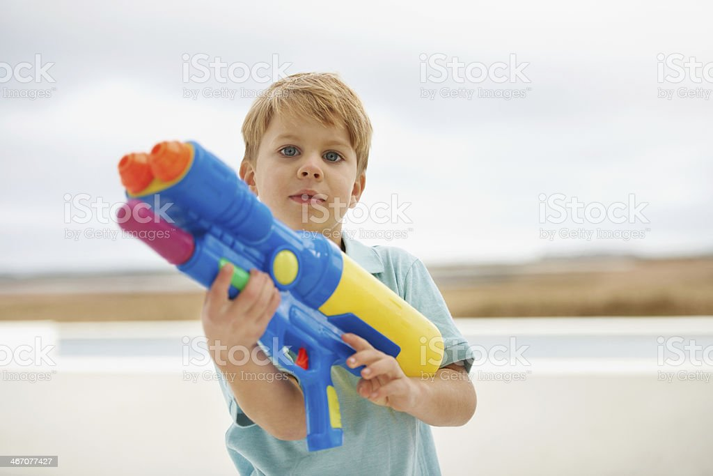 I'm a professional water shooter stock photo
