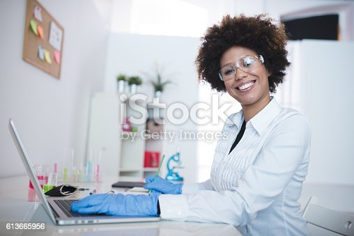 istock I'm a proud woman of science! 613665956