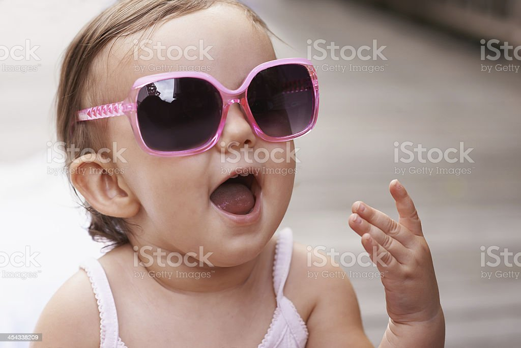 I'm a trend-setter at the daycare! stock photo
