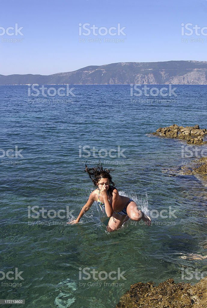I'm afraid of water royalty-free stock photo