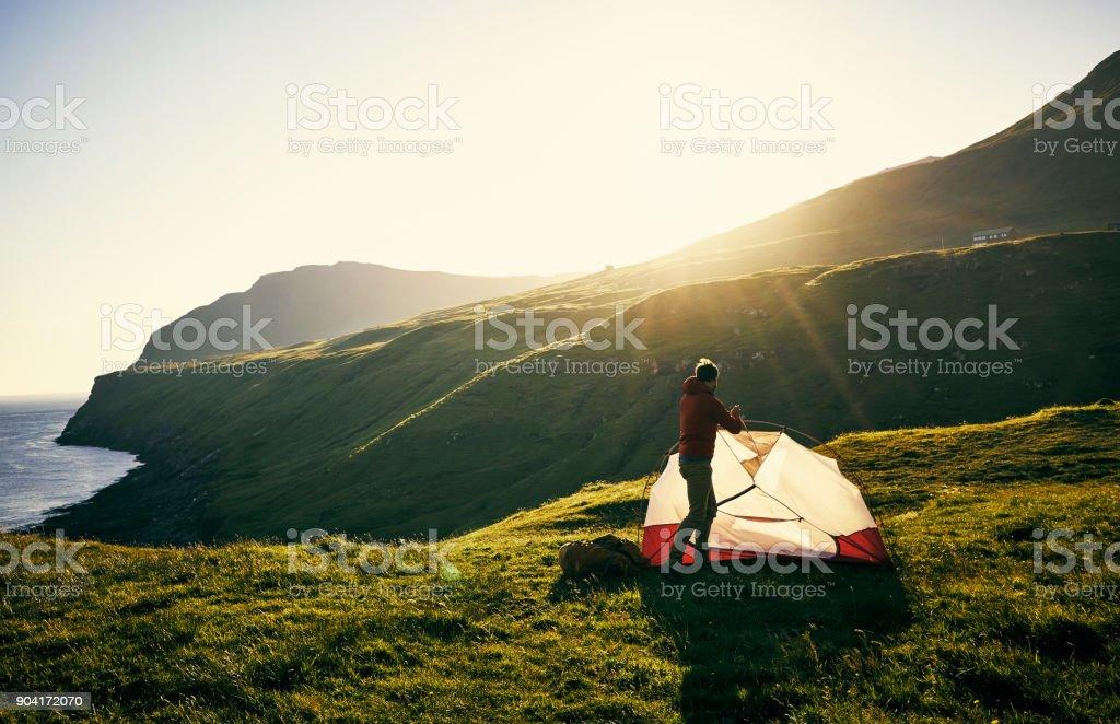Ich bin fast fertig mein Zelt – Foto