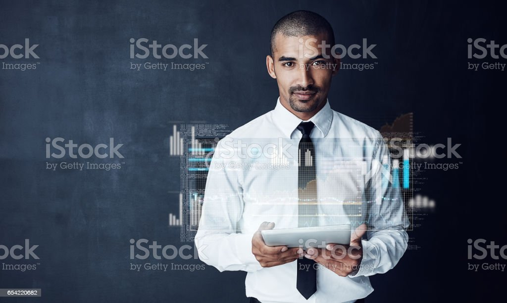 I'm always in control of my business stock photo