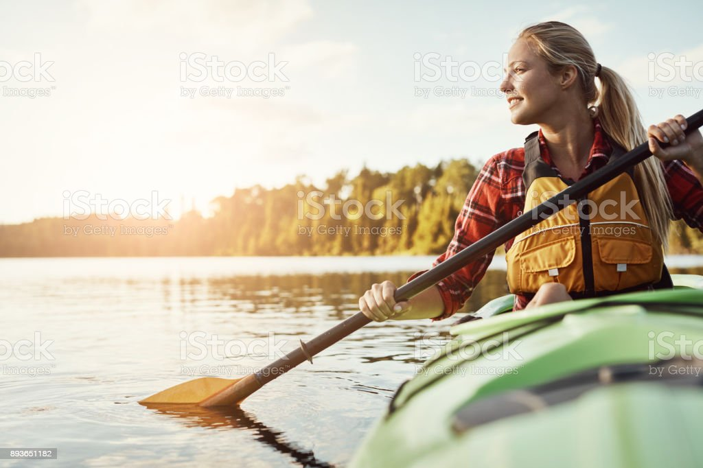 I'm always in if there's water involved stock photo