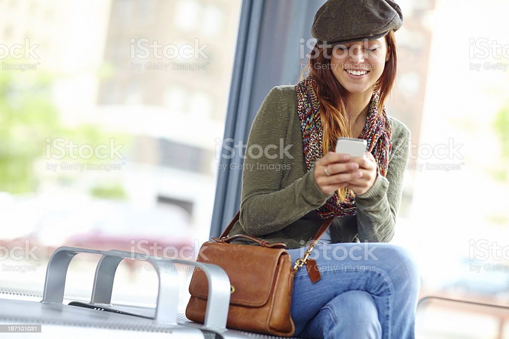 I'm always in toch with my friends... royalty-free stock photo
