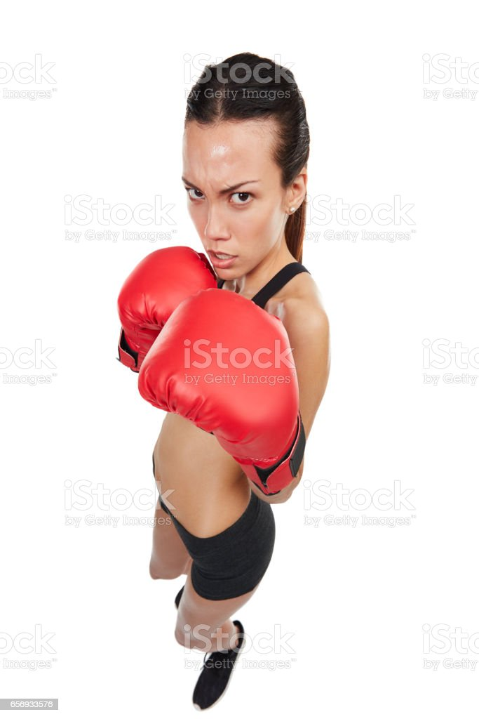 I'm always ready for a fight stock photo