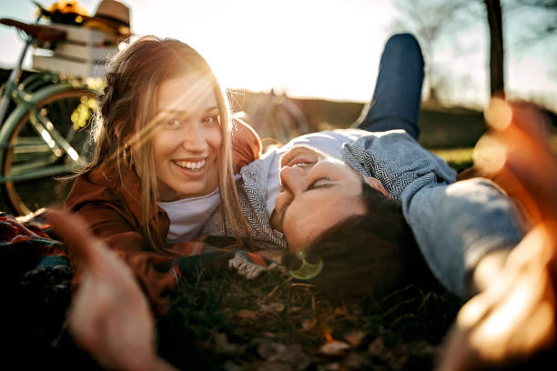 I'm always smiled when I'm with you stock photo
