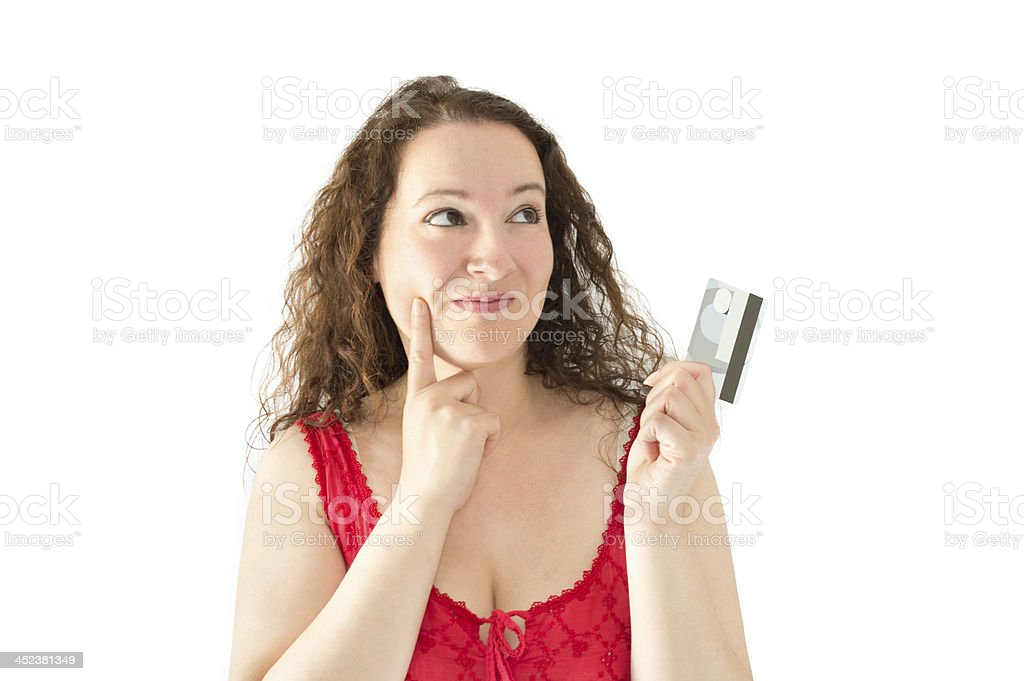 I'm buying with a credit card stock photo